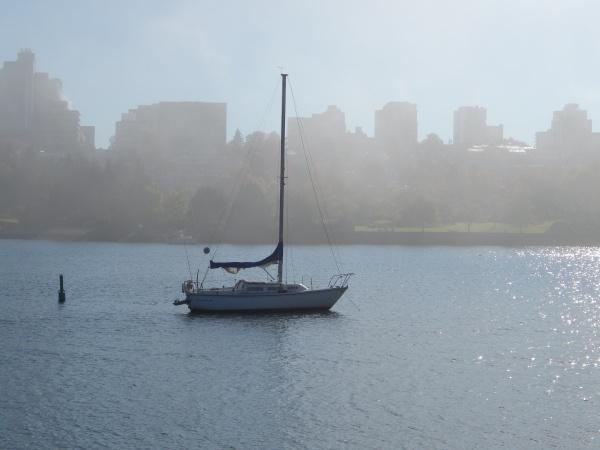 Sailboat in Fog
